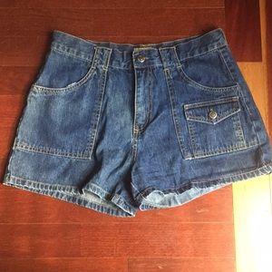 Retro High Waist Denim Shorts